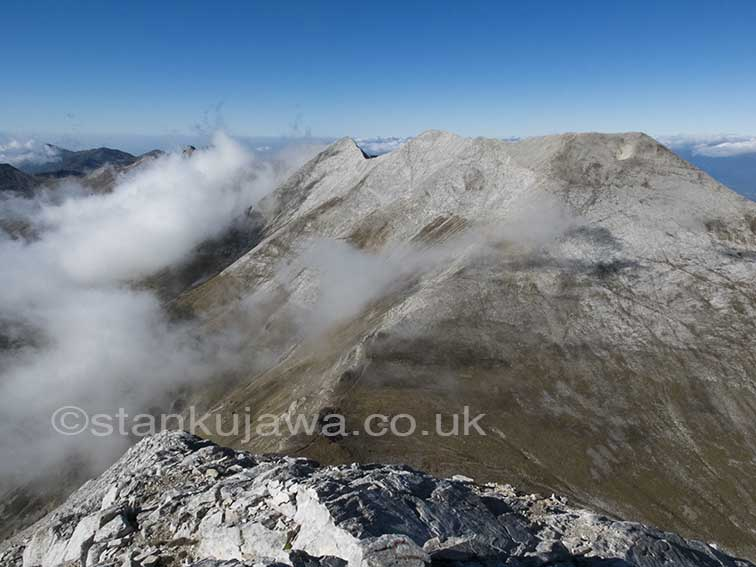 04/10/2013 14:13. View from the top of Mount Vihren, Pirin Mountains, Bulgaria. ©Stan Kujawa.  stan.pix@virgin.net