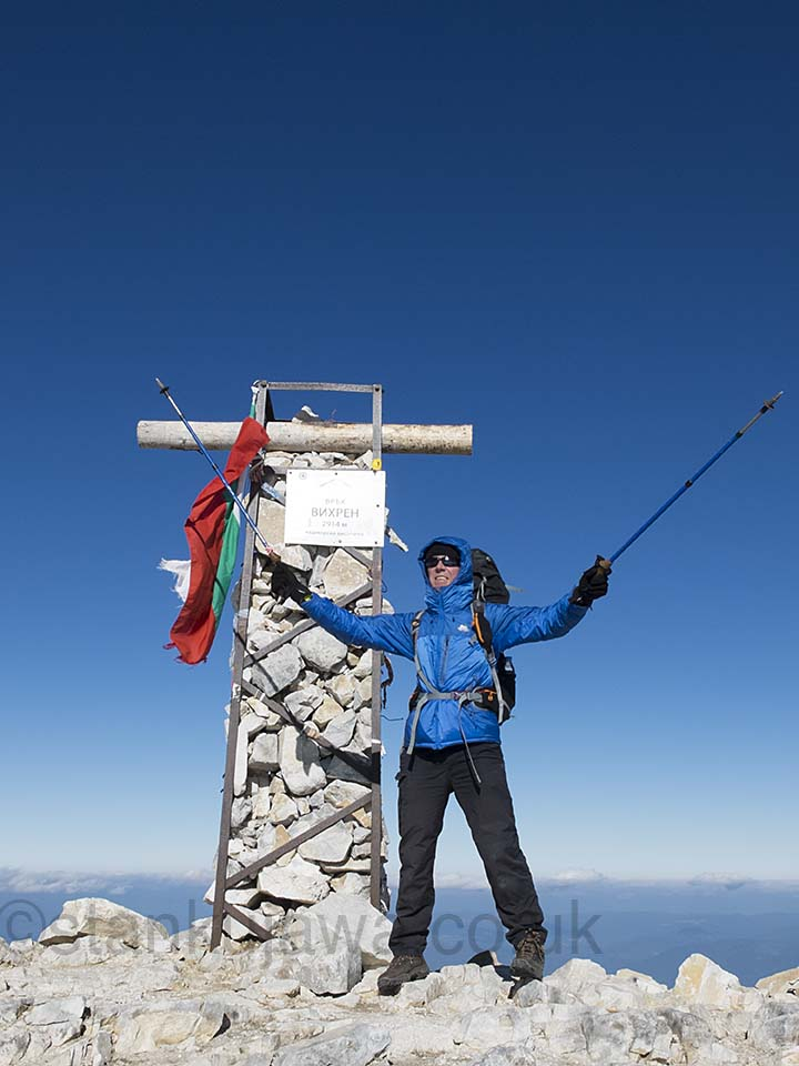 04/10/2013 14:05. On top of Mount Vihren, Pirin Mountains, Bulgaria. ©Stan Kujawa.  stan.pix@virgin.net 07815 152006
